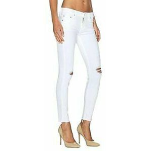 MOTHER Little Ms Innocent Looker Ankle Fray Jeans